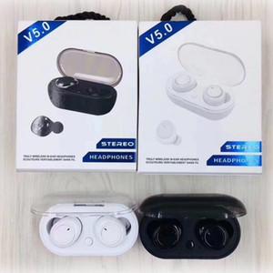 TWS2 беспроводные наушники наушники 5.0 + EDR Спорт TWS Earbuds с зарядным устройством Дело против i9s i12 для Iphone х / хз Samsung s10 HUAWEI