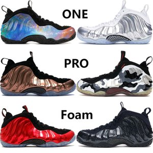 New Penny Hardaway Foams Einer Alternative Galaxy Chrome Weißen Männer Basketballschuhe pro Armee Camo Metallic Gold Knick Mens Stylist Turnschuhe
