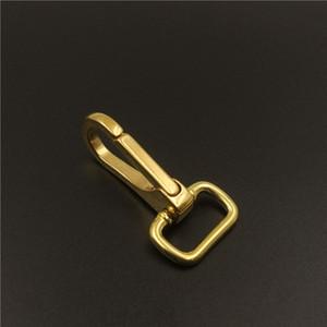 Boucle en laiton boucle à ressort en métal Pinces pour mousqueton Crochet pour 15mm 20mm 25mm Bracelet Cuivre Horseshoe Buckle DIY Key Buckle