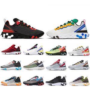 Offerta speciale Script Reagire elemento 55 UNDERCOVER x 87 scarpe da corsa per uomini donne 87s 55s triple nero formatori bianche scarpe da ginnastica di sport