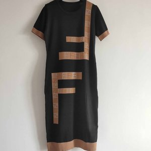 Progettista delle donne Abito Lettera Marca Ladys Stampa Gonne Donna Casual Fashion Dresses Estate Luxury Style 2020 Nuovo caldo di stile di vendita