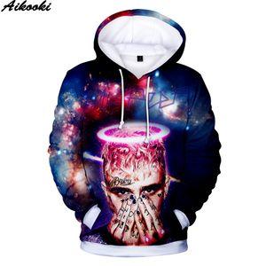 Aikooki lil peep 3D Hoodies Moletons Homens / Mulheres Moda Hoodies Hip Hop lil peep Camisolas venda Quente 3D Hoodie plus size