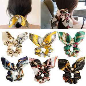 디자이너 머리띠 진주 펜던트 크런치 머리띠 꽃 헤어 로프 탄성 포니 테일 홀더 패션 헤어 액세서리 (13)는 CYL-YW4048 디자인