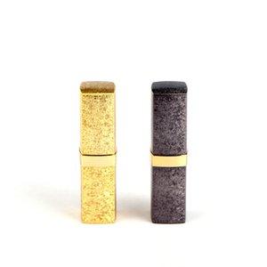 Ouro Plastic Lipstick Tubo Lip Balm recipientes vazios Cosmetic Loção Container cola em bastão Garrafas Embalagem
