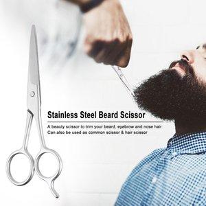 Aço inoxidável Barber Beard Scissor Bigode Pêlos Trimmer Masculino Facial Limpeza Barbear Tesoura tesoura sobrancelha bang