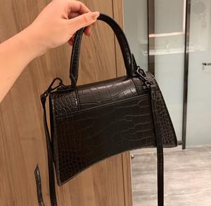 2020 BB Hourglass Designer Luxo Ombro Bolsas Mulheres saco rossbody Tote Purse alta qualidade genuína couro de crocodilo Pele Graffiti