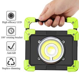 الفوانيس المحمولة 20W الصمام المصباح USB قابلة للشحن البوليفيين مصباح العمل في الهواء الطلق للماء التخييم أضواء الصيد مع وظيفة قوة البنك