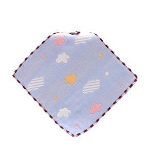 25x25cm puro algodón pañuelo toalla de los niños Kinder 6 capa de gasa toalla de la saliva respetuoso del medio ambiente y el algodón refrescante