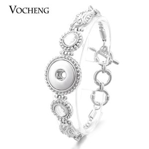 VOCHENG NOOSA Bracelet Leaves Ginger Snap Jewelry Inlaid Crystal 18mm Metal Button Jewelry NN-457