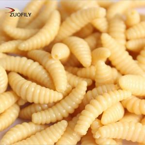 Promozione 50PCS 2 centimetri 0.3g larva Grub ganci morbidi Fishing Lure odore lucciole Gamberetti Pesce Esche