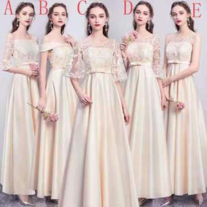 Champagne Satin Bridesmaid Dress Long Evening Dress Party Dress