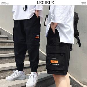 LEGGIBILE Primavera Autunno Cargo Pants Mens Tasche jogging Mens Hiphop pantaloni casual maschile giapponese pantaloni della tuta da uomo
