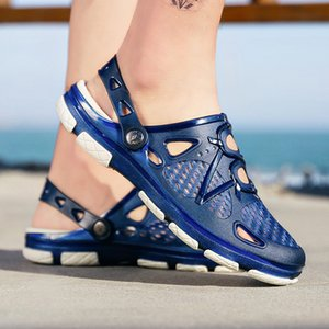 LEOSOXS 2020 tirón nuevos hombres sandalias de verano al aire libre flopes playa de los deslizadores de los zapatos ocasionales zapatos masculinos barato agua Sandalia Masculina