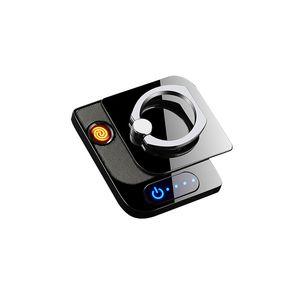 USB elettrico Lighter Anello Staffa Accendini Smoking Usb Touch Sensor di ricarica portatile Personalizzato lavabile Glue