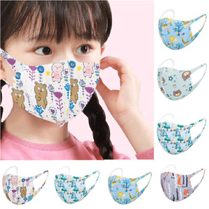 face mask fashion kids face mask boys girls children's cartoon printed reusable face mask children's protective breathable students