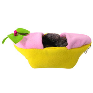 Boat Hamster Bed House Hammock Small Animal Bed House Cage Nest Accessories
