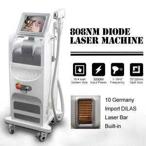 808 nm Diode Lazer Hızlı Epilasyon Makinesi Diyot Lazer 808nm Kalıcı Epilasyon Yüksek Güç DHL