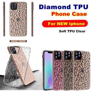 Limpar diamante TPU Phone Case para Iphone 2.019 6.5 XR XS 7 8 Plus Samsung S10 Além disso A70 M30 J2 Núcleo HUAWEI P30 Pro macia transparente tampa traseira