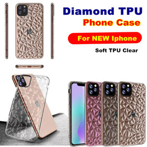 Clear Diamond ТПУ Чехол для телефона для Iphone 2019 6.5 XR XS 7 8 Plus Samsung S10 Plus A70 M30 J2 Core HUAWEI P30 Pro Мягкая прозрачная задняя крышка