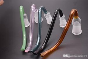 glass J-Hook Adapter 14mm 18mm J hooks male Female glass pipe joint 14.4mm 18.8mm glass Adapter bowl for water bongs hookah