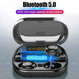 V11 TWS Bluetooth 5.0 Наушники Беспроводные наушники 9D стерео IPX7 водонепроницаемый наушники Спортивные наушники с микрофоном 4000mAh Power Bank