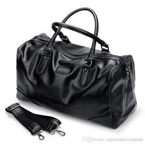 2019 Gym Bag Leather Sports Bags Big Men Training Tas for Shoes Lady Fitness Yoga Travel Duffel Bags Luggage Shoulder Handbag Black XW3671