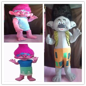 High quality Trolls Mascot Costume poppy branch Parade Quality Clowns Halloween party activity Fancy Outfit