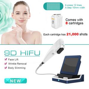 Ulthera 8 카트리지 3D 처리를위한 얼굴 리프팅 주름 리무버 안티 링클 초음파 장치 (12 개) 라인으로 HIFU 얼굴 기계를 3D