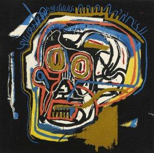 arte Jean Michel Basquit pintada sin título CABEZA Decoración Artesanías / impresión de HD pintura al óleo sobre lienzo de arte pared de la lona 200226