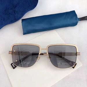 2020 New Ladies Luxury Designer Lunettes de soleil Lunettes de soleil Femmes Cadre Carré Métal Simple Pop Style Eté 0585 Cheap Wholesale