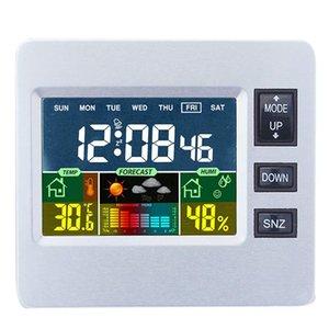 실내 센서 온도 습도 모니터 알라와 일기 예보를 들어 디지털 무선 기상대 수있는 LCD 컬러 디스플레이