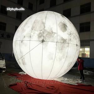 تخصيص الإضاءة نفخ القمر كوكب شخصية ضخمة تفجير رمادي الكرة مقلد القمر بالون لحفل المرحلة الديكور