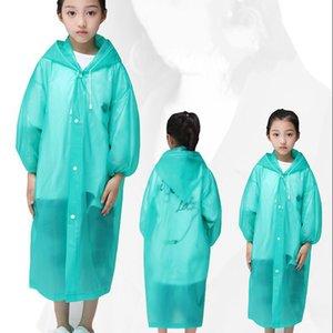 Women Man Outdoor Travel Fashion Adult Kids Rain Coat Thick Transparent Evc Raincoat Mountain Climbing Fishing Rainwear 2020