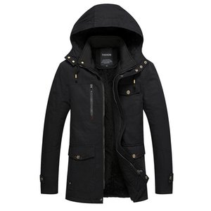 2019 Brand Winter Jacket Men size 4XL Warm Thick Windbreaker High Quality Fleece Cotton-Padded Parkas Military Overcoat clothing