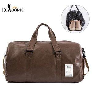 PU Leather Fitness Gym Bag Mulheres Mat Yoga sacos de viagem Bolsa Tote Shoulder Pack for Shoes Formação Gymtas Sac de sport XA126D
