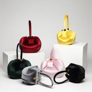 Vintage Velvet, bolsos Lock delicado color sólido Bolsas de diseñador de las mujeres de alta calidad de las señoras monedero Top Mango Bolsa
