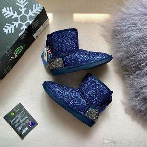 Winter New Hot Sale Shiny Australian Fur One Warm Ladies Snow Boots Fashion High Quality Warm Snow Boots Elegent Bowtie Warm Flat Boots