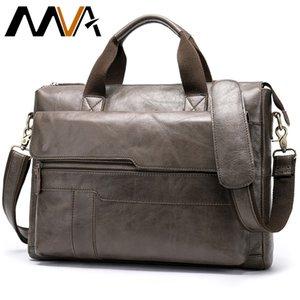 erkekler dizüstü evrak çantası avukat erkekler çanta 8615 CJ191210 için MVA erkek evrak çantası Gerçek Deri laptop çantası erkek deri çanta ofis çanta