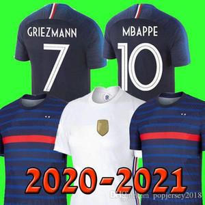 France soccer jersey Euro 2020 2021 football shirt Camiseta de fútbol de Francia 100 aniversario 100 chandal del equipo de la Copa del mundo de MBAPPE kit de los hombres + niños