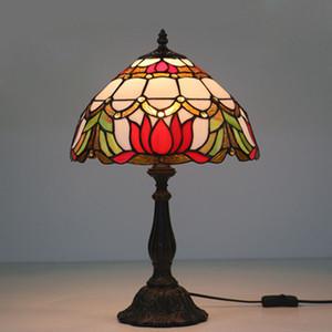New American Retro Tischlampe Schlafzimmer Nachttischlampe Europäischen Pastoralen Mode Kreative Bar Glas LED Tischleuchte Schreibtisch Licht