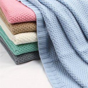 Blanket recém-nascido de gavetas Enrole bebê cobertores malha Super macio da criança infantil Cama Quilt Para sofá-cama cesta Stroller Cobertores