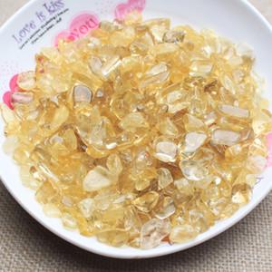 100g Natural Cristal Amarelo Citrino Cascalho chips de rocha de quartzo Raw Gemstone Mineral Specimen Graden Decoração Energia Pedra