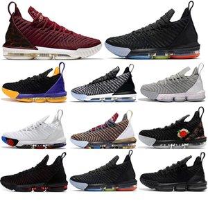 Con calza Vendita lebron james scarpe 16 16s pallacanestro Scarpe Uomo 1 Thru 5 viola corte Martin allevati formatori esterni sneakers sport 40-46