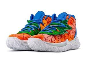 Migliori vendita Scarpe bambini Kyries 5 Pineapple House di pallacanestro con la scatola calda Irving 5 ragazzi degli uomini scarpe donne libere di trasporto US4-US12