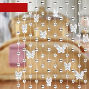 멋지게 1 미터 나비 크리스탈 구슬 커튼 구슬 장식 물 드롭 펜던트 웨딩 커튼 파티 장식 모양의