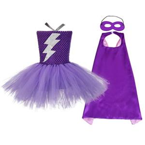 Kızlar Noel Cadılar Bayramı Kostüm Tutu Elbise Superman Wonder Woman Elbise çocuklar için Cloak Süper Kahraman kostümleri Maske