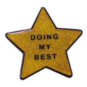 Faire ma meilleure broche étoile de santé mentale broche bijoux positifs