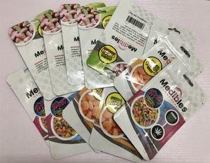 Medibles Pacchi da imballaggio edibles Cookies borse mylar 420 LoL progettazione gomme al sacchetto di mylar Runtz Chuckles a chiusura lampo Connected Smell prova della confezione