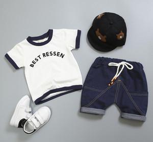 Children's wear boys summer wear short sleeve set children's clothes new baby 1-3-4 years old children's summer two piece set