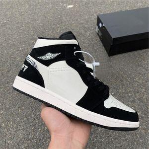 2020 Hot Sale alta OG 1 Mid BHM Tint Homens Bas Calçados casuais 852542-010 Branco Preto Calçados Esportivos